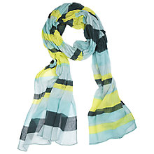 Buy Betty Barclay Stripe Scarf, Dark Green / Emerald Online at johnlewis.com