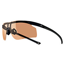 Buy Adidas Adizero Tempo Glasses, Black/Charcoal, Small Online at johnlewis.com
