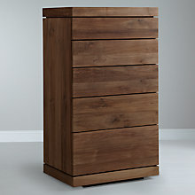 Buy Ethnicraft Teak Burger 5 Drawer Chest Online at johnlewis.com