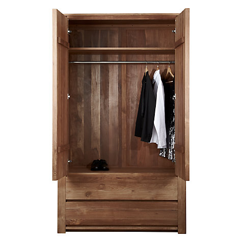 Buy Ethnicraft Teak Burger Wardrobe Online at johnlewis.com