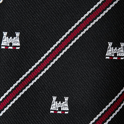 "Buy West Hatch High School Boys' Sixth Form Tie, Black/Red, L54"" Online at johnlewis.com"