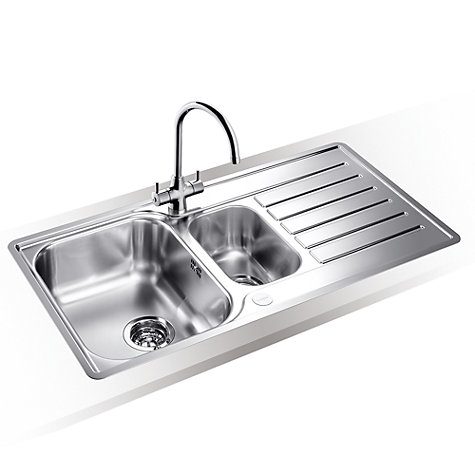 Blanco Lantos 6S-IF 1.5 Inset Kitchen Sink with Arch Tap, Left Hand ...