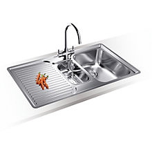 Buy Blanco Classic 6S-IF 1.5 Kitchen Sink with Arch Tap, Right Hand Bowl Online at johnlewis.com