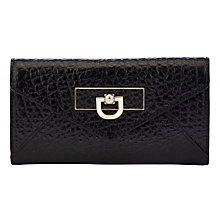Buy DKNY French Grain Envelope Purse, Black Online at johnlewis.com