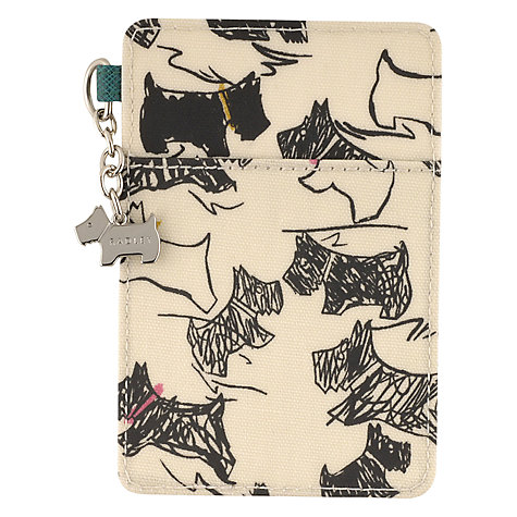 Buy Radley Doodle Dog Travel Card Holder, Elderflower Online at johnlewis.com