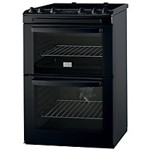 Buy Zanussi ZCV665MN Electric Cooker, Black Online at johnlewis.com