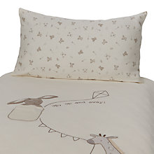 Buy John Lewis Baby Bear Cotbed Duvet Cover and Pillowcase Set, Neutral Online at johnlewis.com