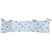 Buy John Lewis Alphabet Bumper, Blue Online at johnlewis.com