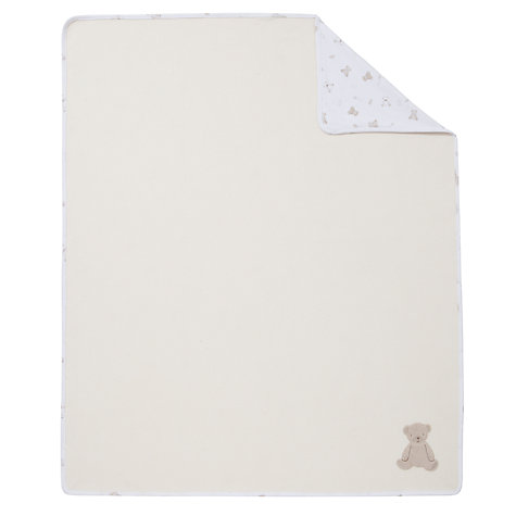 Buy John Lewis Baby Bear Swaddle Blanket, Neutrals Online at johnlewis.com