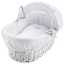 Buy John Lewis Make a Wish Moses Basket, White/Grey Online at johnlewis.com