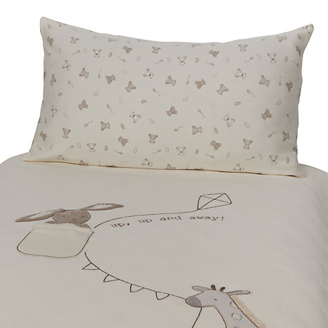 Buy John Lewis Bear Cot Duvet Cover and Pillowcase Set, Neutrals Online at johnlewis.com