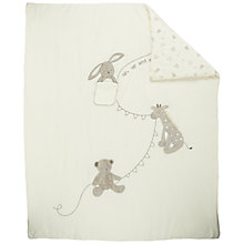 Buy John Lewis Baby Bear Cotbed Quilt, Neutrals Online at johnlewis.com