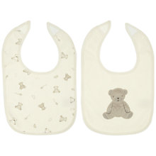 Buy John Lewis Baby Bear Bibs, Pack of 2, Neutrals Online at johnlewis.com