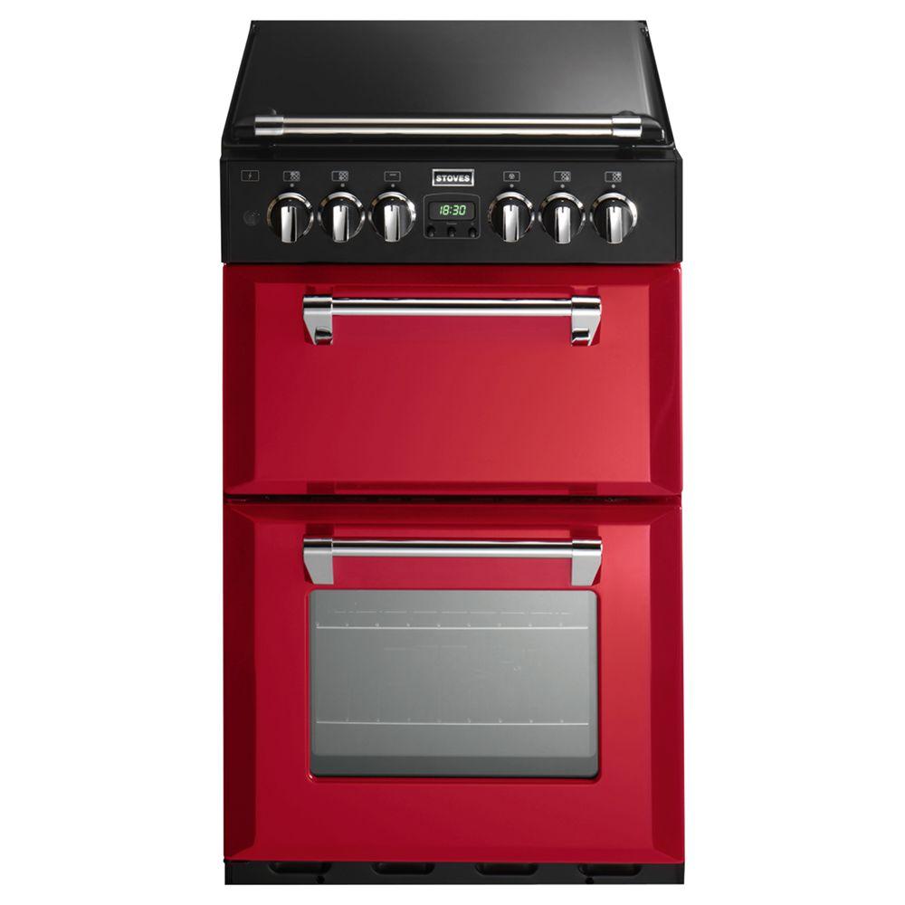 Stoves Stoves Richmond 550DFW Dual Fuel Mini Range Cooker, Hot Jalapeño Red