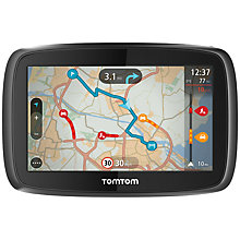 Buy TomTom GO 400 GPS Navigation System, Free Lifetime UK, Republic of Ireland and Europe Maps with High Speed Multi-charger Online at johnlewis.com
