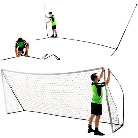 Buy QuickPlay Kickster Academy 16' x 7' Football Goal Online at johnlewis.com