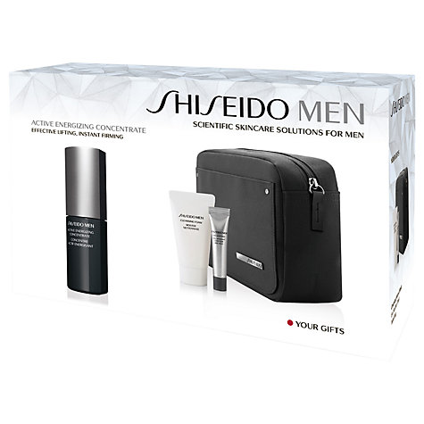 Buy Shiseido Men Active Energizing Concentrate Skincare Collection Set Online at johnlewis.com