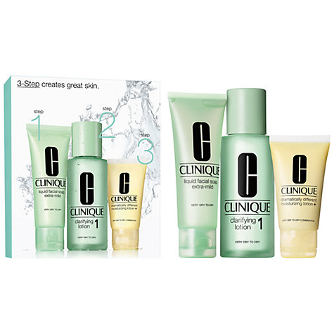 Buy Clinique 3-Step Skin Care 1 Introduction Kit, Very Dry to Dry Online at johnlewis.com