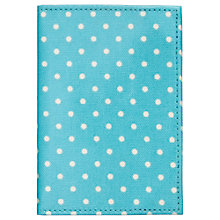 Buy Cath Kidston Mini Dot Passport Cover, Turquoise Online at johnlewis.com