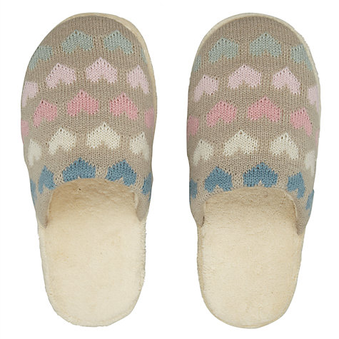 Buy Aroma Home Heart Slippers Online at johnlewis.com
