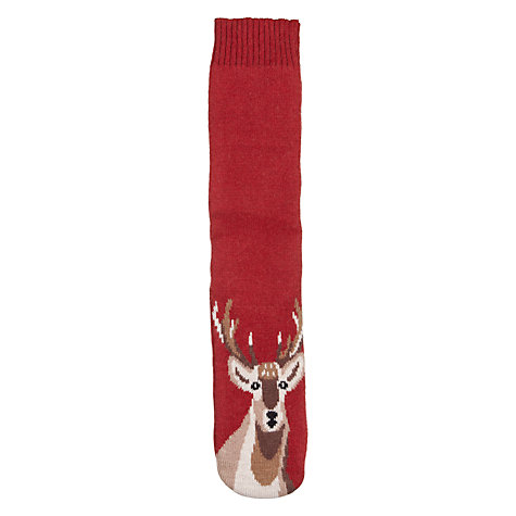 Buy Aroma Home Stag Boot Sock, Wine, 8 - 12 Online at johnlewis.com