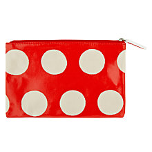 Buy Cath Kidston Big Spot Zip Purse, Red Online at johnlewis.com