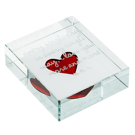 Buy Spaceform Every Single Day Paperweight, Medium Online at johnlewis.com