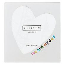 Buy Spaceform Square Me & Dad Mirrored Photo Frame Online at johnlewis.com