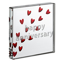 Buy John Lewis Happy Anniversary Hearts Token, Mini Online at johnlewis.com