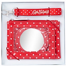 Buy Cath Kidston Mini Spot Tomato Purse, Mirror and Lanyard Set Online at johnlewis.com
