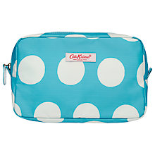 Buy Cath Kidston Big Spot Travel Pouch, Small, Turquoise Online at johnlewis.com