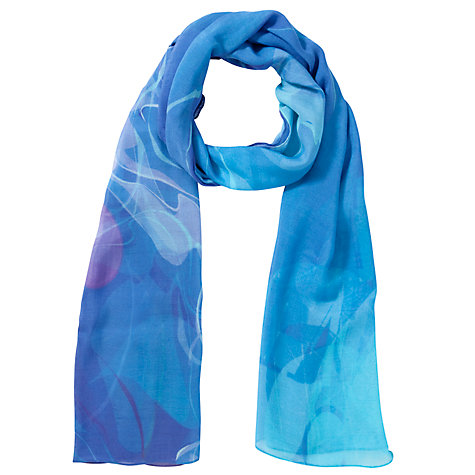 Buy Front Row Society Touch Of Blue Modal Scarf, Blue Online at johnlewis.com