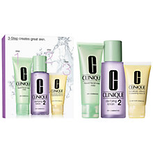 Buy Clinique 3-Step Skincare 2 Introduction Kit, Dry Combination Online at johnlewis.com