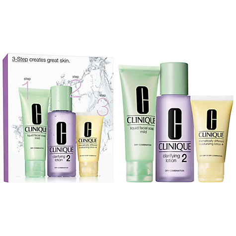 Buy Clinique 3-Step Skin Care 2 Introduction Kit, Dry Combination Online at johnlewis.com