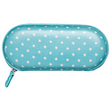 Buy Cath Kidston Mini Dot Glasses Case, Turquoise Online at johnlewis.com