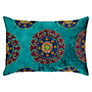 Buy John Lewis Embroidered Velvet Cushion, Teal Online at johnlewis.com