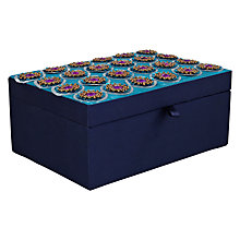 Buy John Lewis Embroidered Box, Teal Online at johnlewis.com