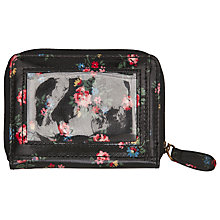 Buy Cath Kidston Kew Sprig Travel Purse, Charcoal Online at johnlewis.com