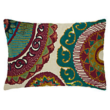 Buy John Lewis Jute Cushion, Jade Online at johnlewis.com