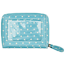 Buy Cath Kidston Mini Dot Travel Purse, Turquoise Online at johnlewis.com