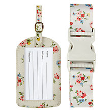 Buy Cath Kidston Kew Spring Luggage Set, Stone Online at johnlewis.com