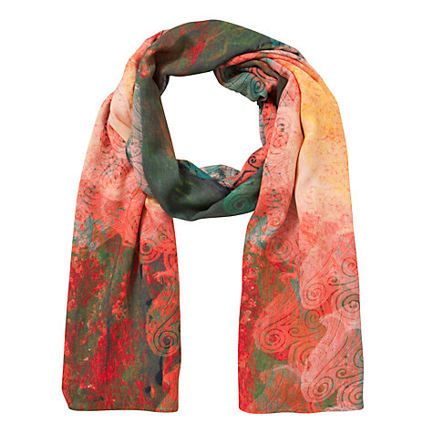 Buy Front Row Society Heat Scarf, Orange Online at johnlewis.com
