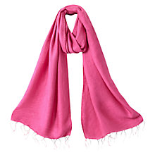 Buy East Shimmer Scarf, Camelia Pink Online at johnlewis.com
