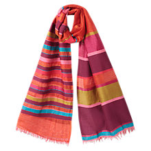 Buy East Aztec Striped Scarf, Orange Online at johnlewis.com