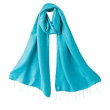Buy East Shimmer Scarf, Turquoise Online at johnlewis.com