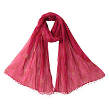 Buy East Anokhi Booti Scarf, Pink Online at johnlewis.com