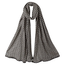 Buy East Booti Leaf Print Scarf, Black Online at johnlewis.com