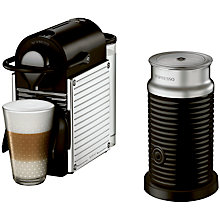 Buy Nespresso Pixie Automatic Coffee Machine and Aeroccino by Krups, Chrome Online at johnlewis.com