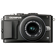 "Buy Olympus PEN E-PL5 Compact System Camera with 14-42mm Lens, HD 1080p, 16.1MP, 3"" LCD Touch Screen with 16GB + 8GB Memory Card Online at johnlewis.com"