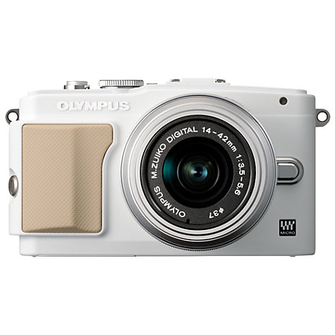 "Buy Olympus PEN E-PL5 Compact System Camera with 14-42mm Lens, HD 1080p, 16.1MP, 3"" LCD Touch Screen Online at johnlewis.com"